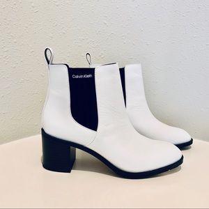 """Calvin Klein Women's White Ankle Boots/Sz:8.5""""/NWT"""